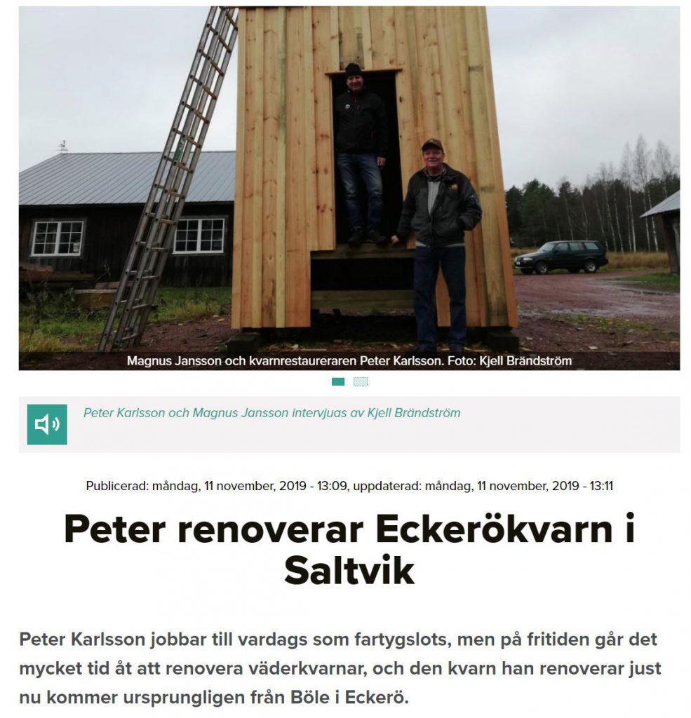 kvarnen reportage ålands radio