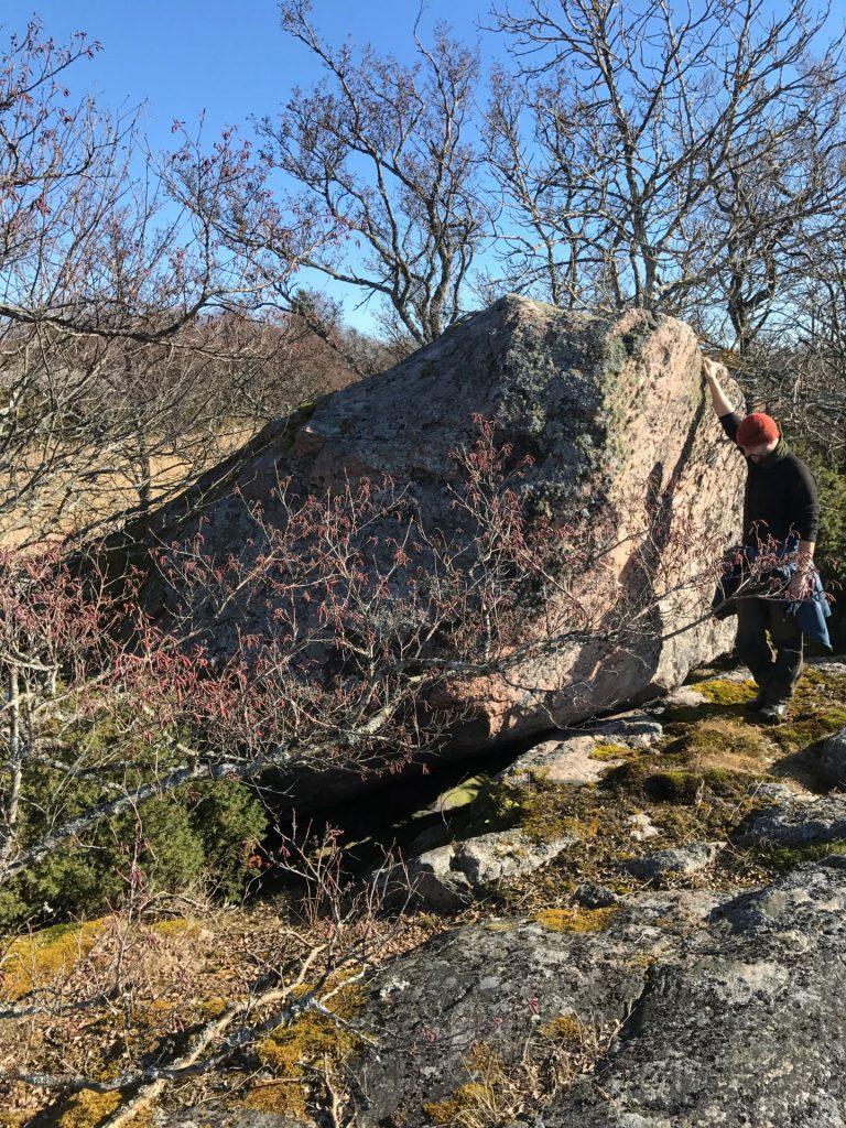 Flyttblock på Jåsholm naturstig