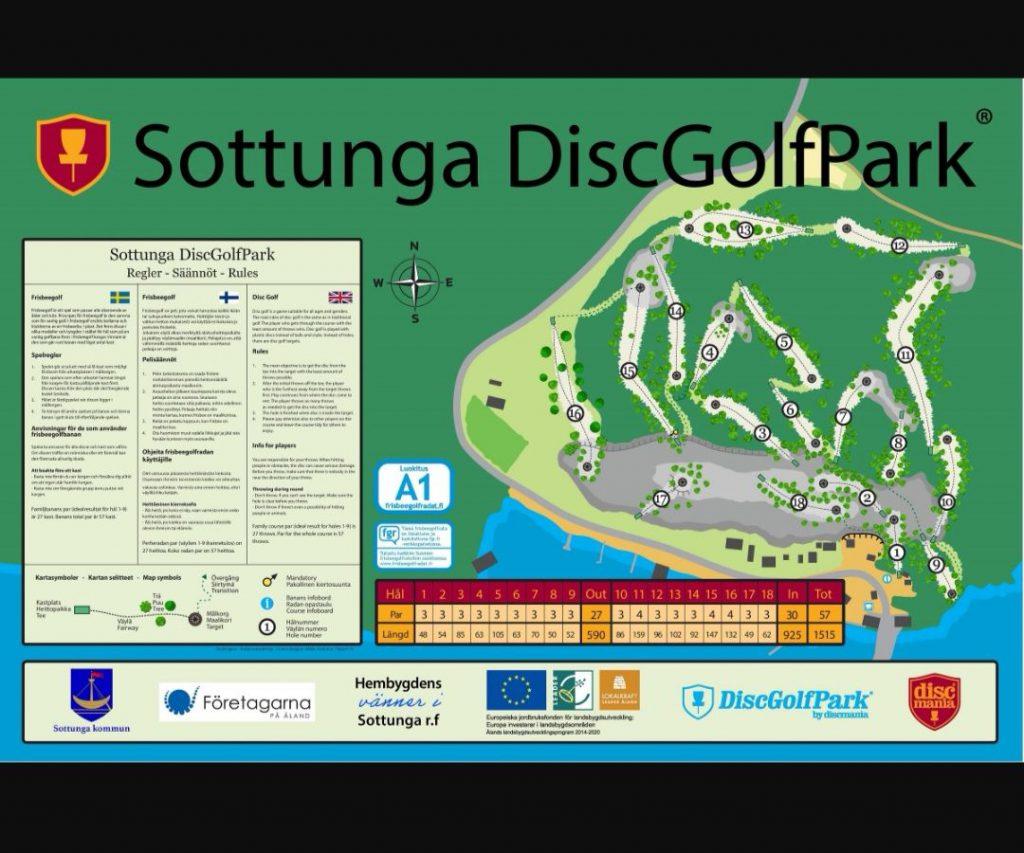 discgolf sottunga map